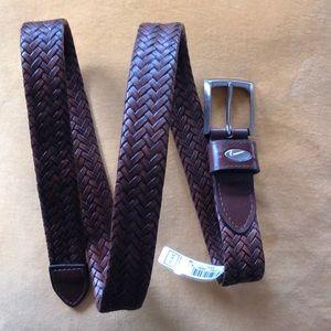 Nike Golf brown braided belt